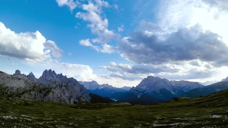 cime di lavaredo : Timelapse National Nature Park Tre Cime In the Dolomites Alps. Beautiful nature of Italy.