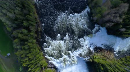 vários : Ristafallet waterfall in the western part of Jamtland is listed as one of the most beautiful waterfalls in Sweden. Stock Footage