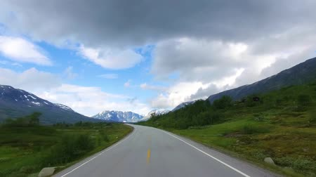 realtime : Driving a Car on a Road in Norway