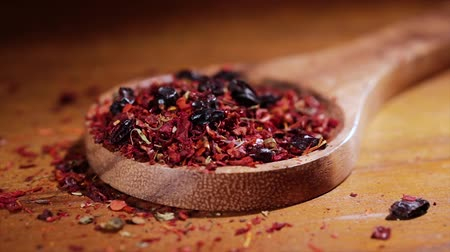 peppercorn : Mixed of hot spices from red pepper, dried garlic, barberry, turmeric and saffron Stock Footage