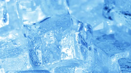 yarı saydam : Ice cubes closeup, abstract background.