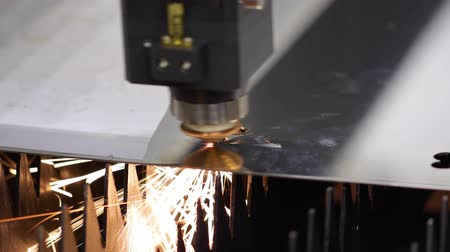 laser engraving : CNC Laser cutting of metal, modern industrial technology.