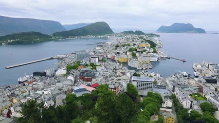 arctic nature : Aksla at the city of Alesund, Norway