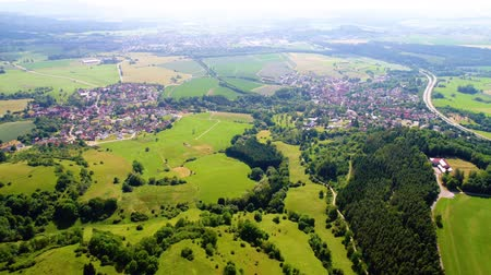 Бавария : Aerial view of Baden-Wurttemberg Zollernalbkreis Germany