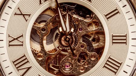 minute : Antique clock dial close-up. Vintage pocket watch.