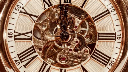 kleszcz : Antique clock dial close-up. Vintage pocket watch.