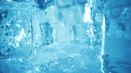 mrazák : Ice cubes closeup, abstract background.