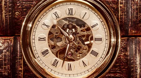 bolso : Antique clock dial close-up. Vintage pocket watch.