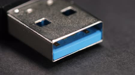 removable : Macro close up of a USB 3.0 flash memory drive