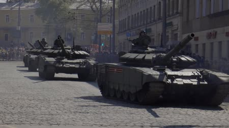 veterano : MOSCOW, RUSSIA - MAY 07, 2019:Russian military equipment on the streets of Moscow. Preparation for the parade in honor of the victory in the second world war.