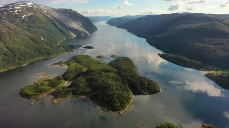 geiranger : Aerial footage Beautiful Nature Norway