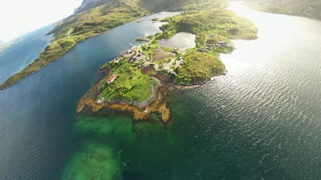 escandinavo : Aerial footage mini planet Beautiful Nature Norway.