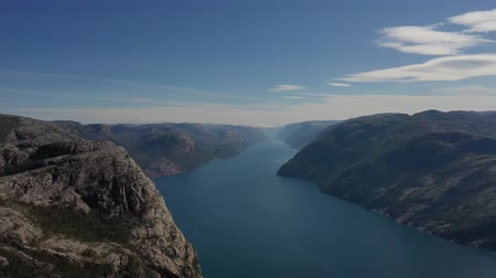geiranger : Aerial footage Beautiful Nature Norway.