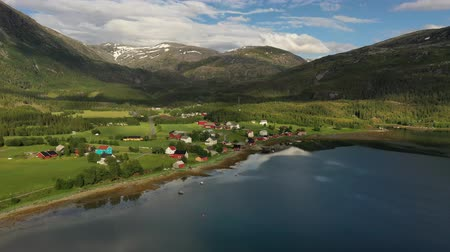 dron : Aerial footage Beautiful Nature Norway