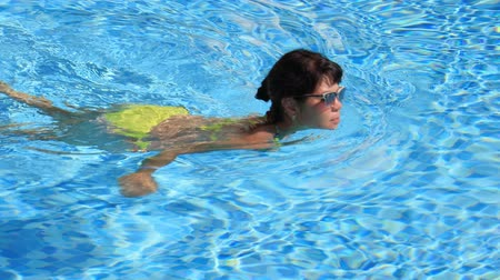 plavec : Woman swimming in the poolin the Swimming pool