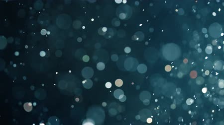 snow sparkle : Floating abstract particle bokeh on dark background