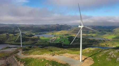 norvégia : Windmills for electric power production Norway