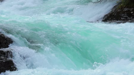 limpid : Mountain river water closeup. Norway Beautiful Nature.