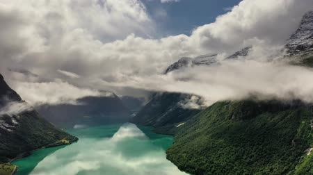 geiranger : Beautiful Nature Norway natural landscape lovatnet lake.