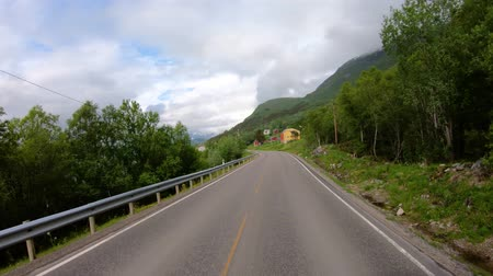 államközi : Vehicle point-of-view Driving a Car on a Road in Norway