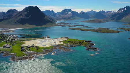 Beach Lofoten islands is an archipelago in the county of Nordland, Norway. Is known for a distinctive scenery with dramatic mountains and peaks, open sea and sheltered bays, beaches Dostupné videozáznamy