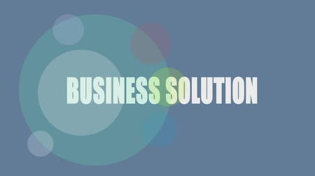 kontakt : Business Solution word on blue screen