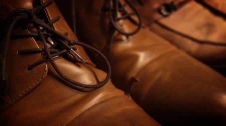 avelã : Close up Camera move by old fasioned captoe dress shoes