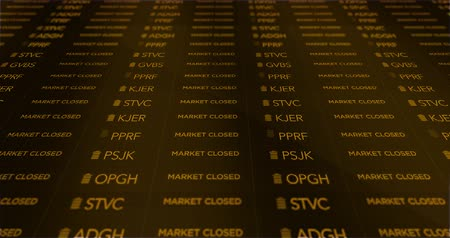 pet : Market Gesloten Retro Stock Market Ticker