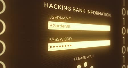 senha : Hacking Online Digital Banking Website Interface