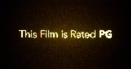 ocena : Glitchy Modern Movie Rating Text   PG