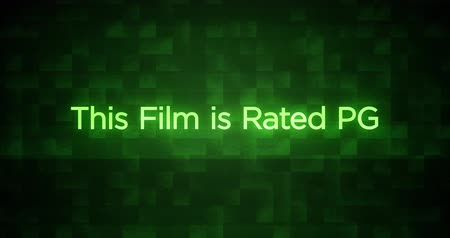 Glitchy Modern Movie Rating Text   PG
