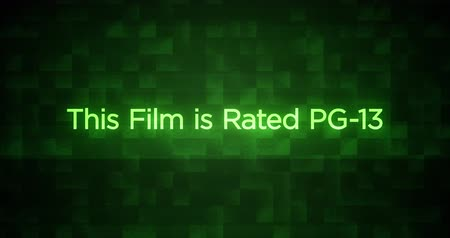 Glitchy Modern Movie Rating Text PG13