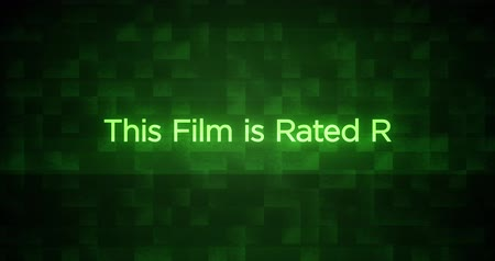 ocena : Glitchy Modern Movie Rating Text   R
