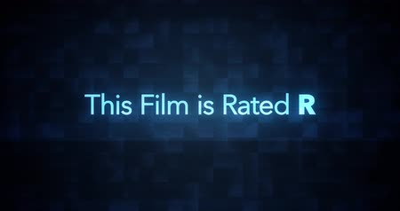 Glitchy Modern Movie Rating Text   R