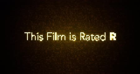 Glitchy Modern Movie Rating Text R Stok Video