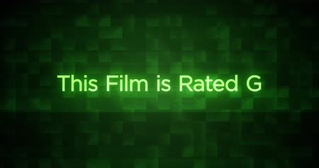 Glitchy Modern Movie Rating Text G