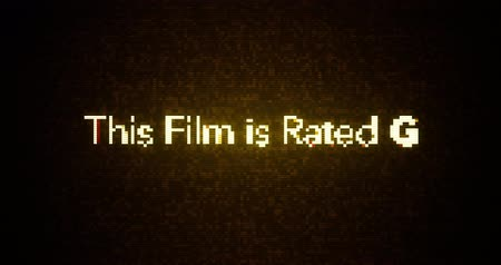 ocena : Glitchy Modern Movie Rating Text  G
