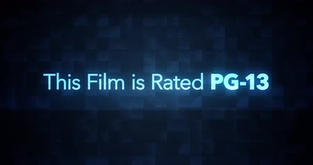 ocena : Glitchy Modern Movie Rating Text   PG   13 Wideo