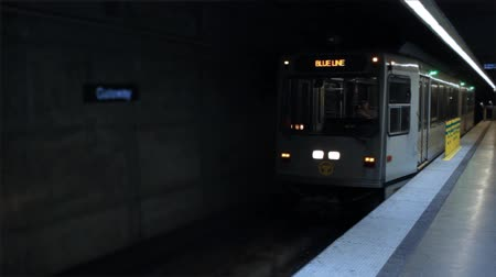 PITTSBURGH - Circa February 2017 - The Pittsburgh Transit Subway Car arrives in station