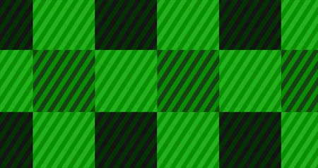 Looping Dark Green Flannel Background