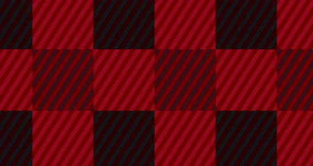 tık : Looping Red Flannel Flannel Background Stok Video