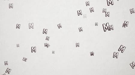 sziám : Hand Drawn Letter M Flying Over Old White Paper. High Quality Animation. Seamless loop, 1080p, 60fps