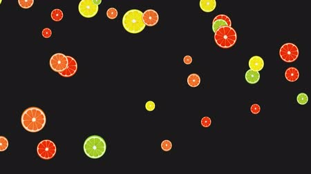grejpfrut : Seamless Colorful Lime, Orange, Grapefruit, Lemon Background. High-Quality Animation. 4K, 60fps