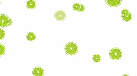 frutoso : Seamless Colorful Lime Background. High-Quality Animation. 4K, 60fps Vídeos