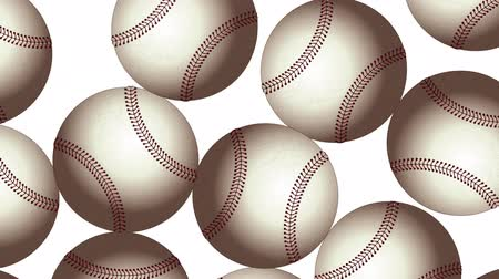 competitivo : Baseball Balls On Background. Ideal For Your Sport Related Projects. Seamless Loop 4K, 60fps