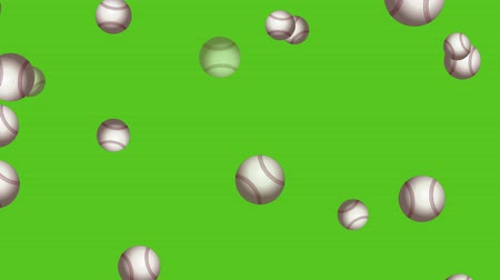 beisebol : Baseball Balls On Background. Ideal For Your Sport Related Projects. Seamless Loop 4K, 60fps