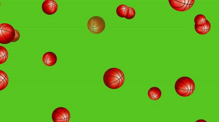 basketball : Basketball Balls On Background. Ideal For Your Sport Related Projects. Seamless Loop, 4K, 60fps Stock Footage