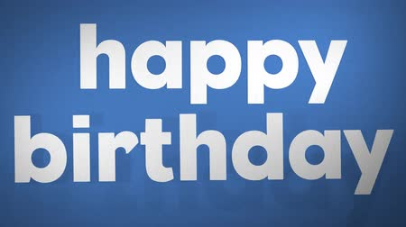 stopmotion : Happy Birthday On Blue. Optimistic, High-Quality Stop Motion Animation. 4K, 24fps.