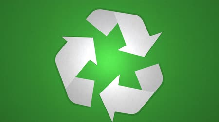 stopmotion : Spinning Recycle Sign, Seamless Loop. Ideal For Your Recycle Themed Projects. High-Quality Animation, 4K, 24fps