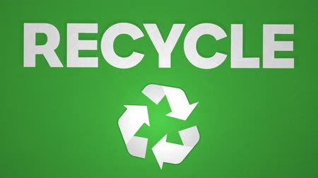 stopmotion : Spinning Recycle Sign, Stop Motion With Text. Seamless Loop. Ideal For Your Recycle Themed Projects. High-Quality Animation, 4K, 24fps